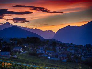 Savièse - Morning lights by www.swissaerial.ch