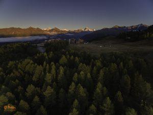 Thyon 2000 - Evening Lights by www.swissaerial.ch