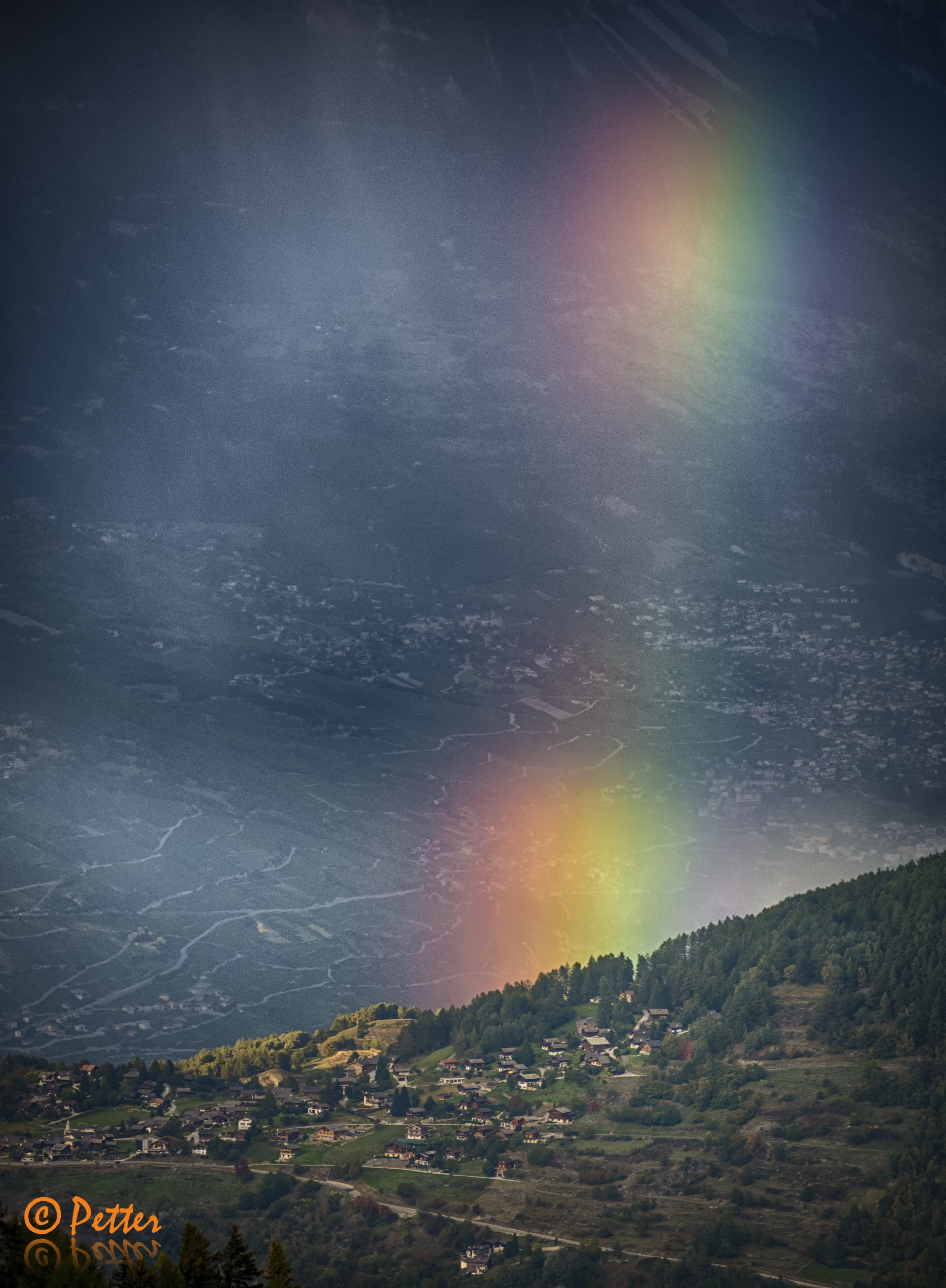 Rainbow over Thyon 2000 by www.swissaerial.ch
